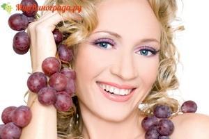Виноград как косметическое средство