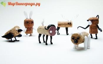 Игрушки из винных пробок