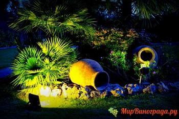 Виды подсветки для дачного участка