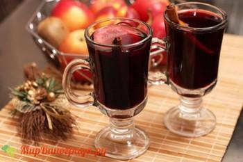 Горячее красное вино