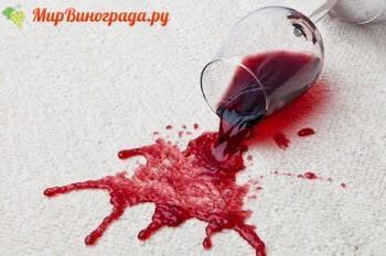 Пятно от вина красного