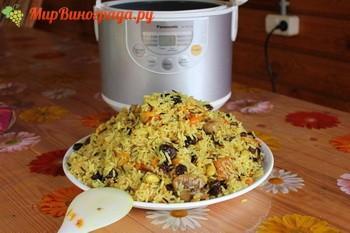 Рис с изюмом в мультиварке