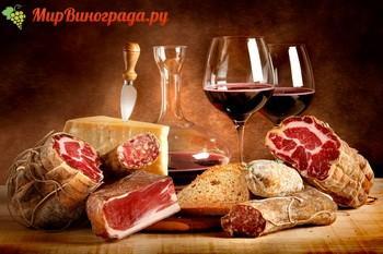 Сладкое вино красное с мясом