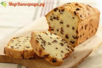 кекс с изюмом в хлебопечке