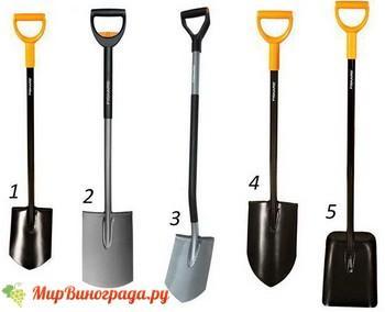 Формы лопат